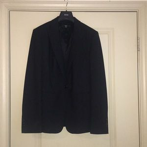 Hugo Boss women's single button black blazer